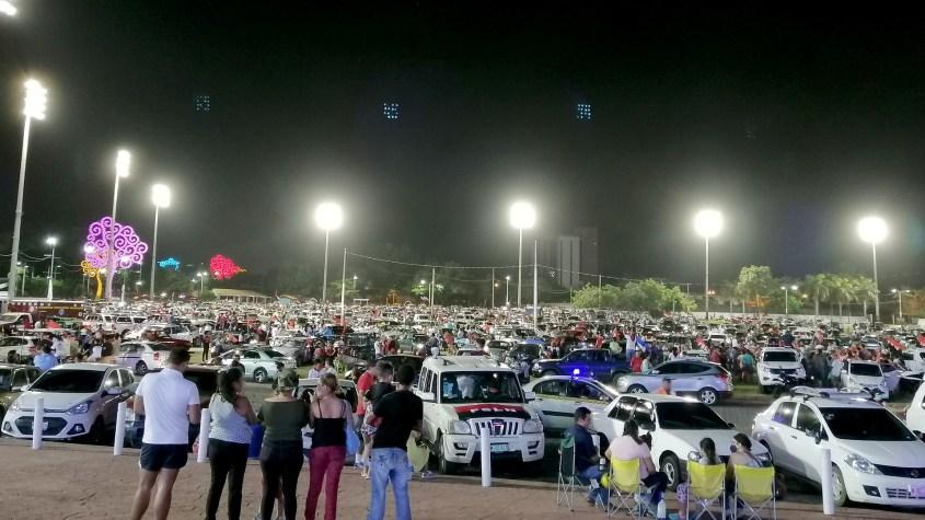 Sandinistas July 19 cars Plaza la Fe