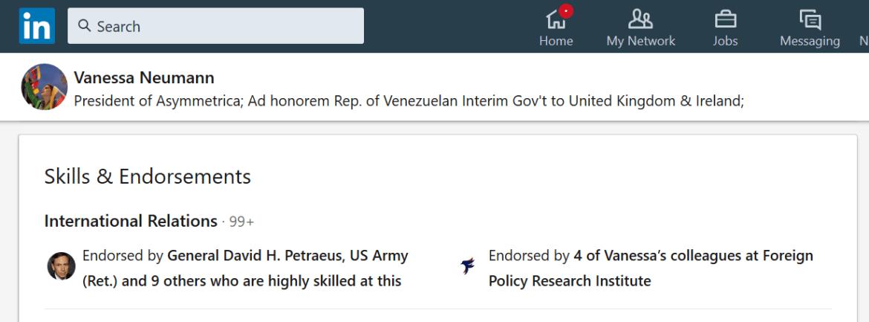 Vanessa Neumann David Petraeus LinkedIn