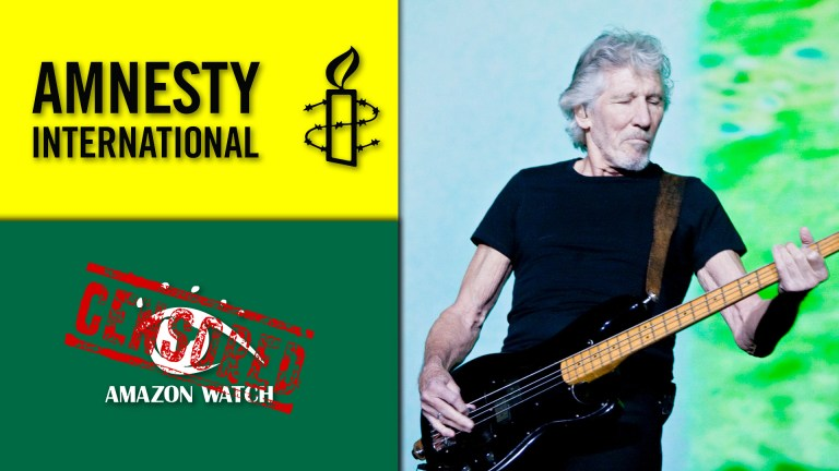 Roger Waters Amnesty Internaional Amazon Watch Syria