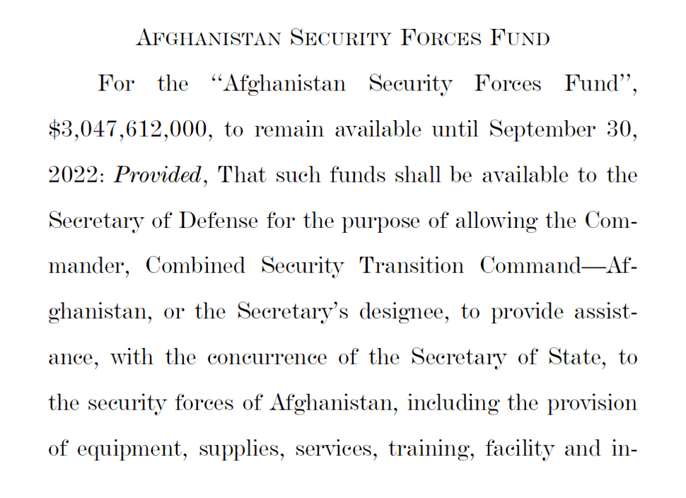 US Covid relief bill Afghanistan