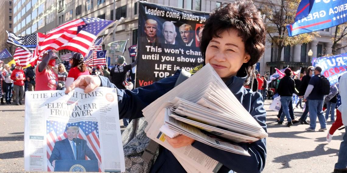 Epoch Times Falun Gong Trump China propaganda
