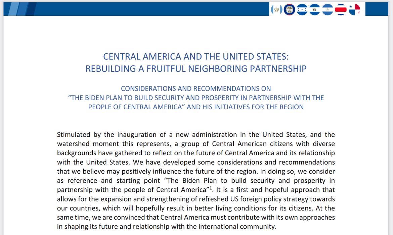 Biden Plan Central America statement leaders