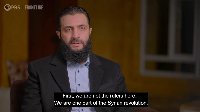 Abu Mohammad al-Jolani HTS Syria PBS