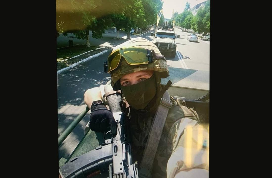 Roman Protasevich Azov assault rifle Ukraine