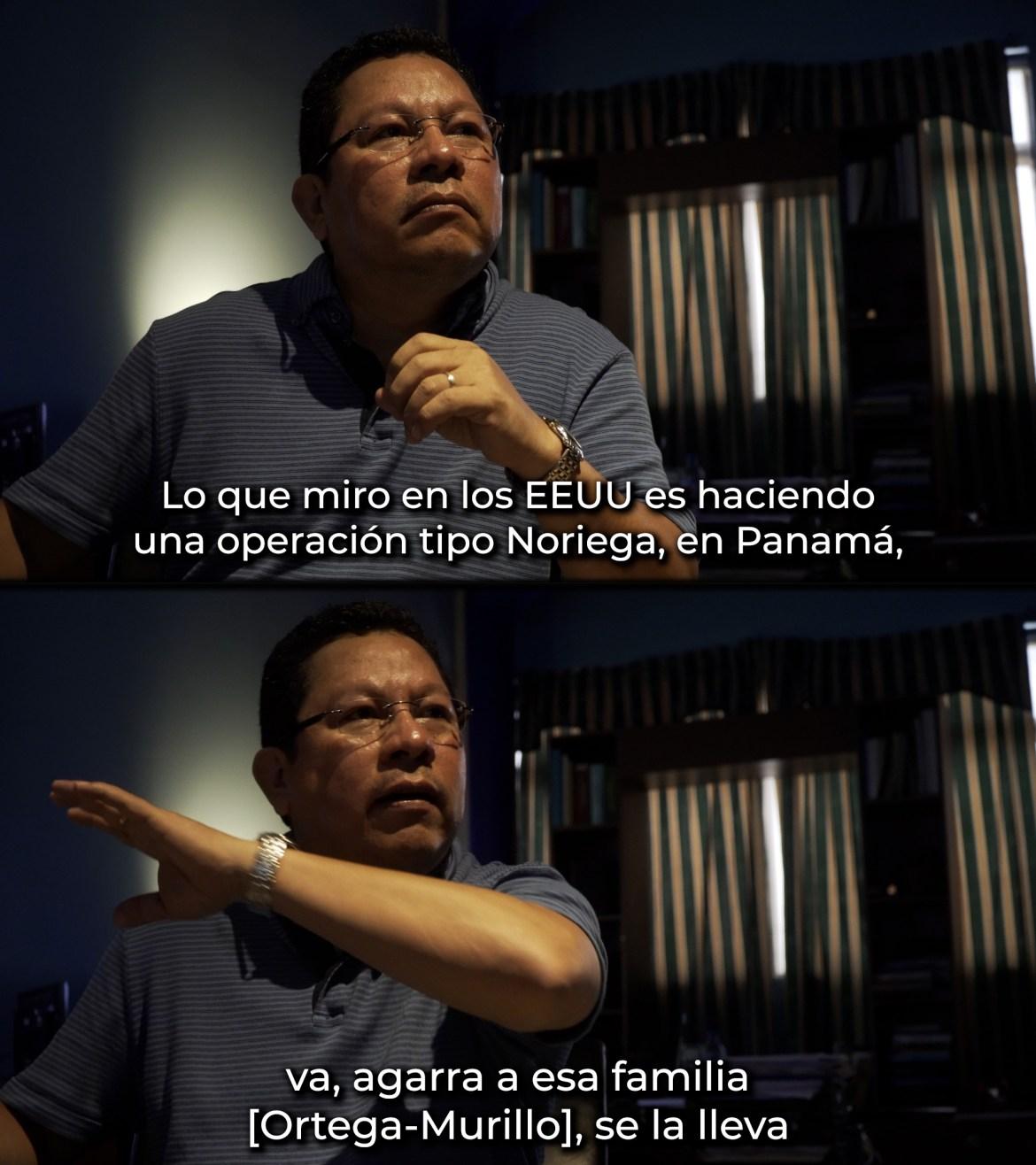 Miguel Mora Nicaragua EEUU invasion tipo Noriega