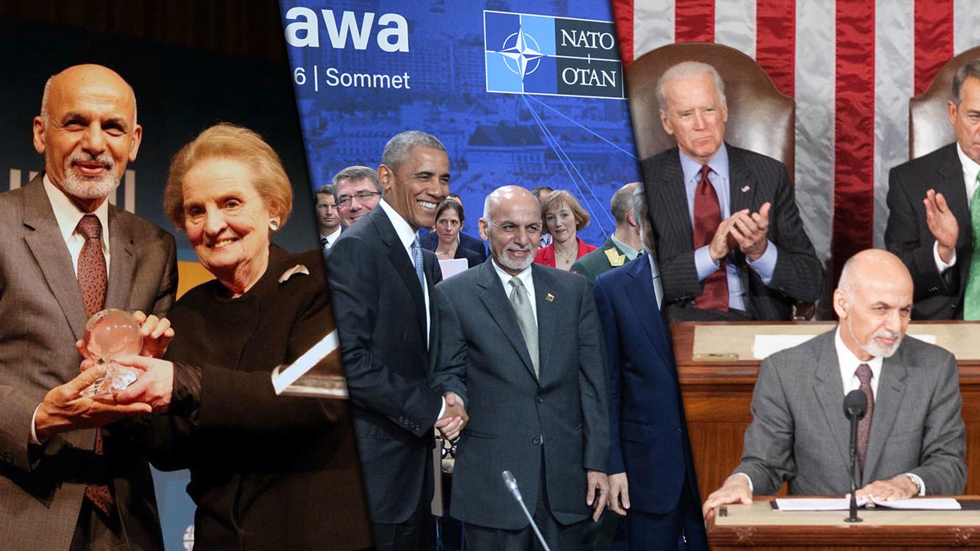 Afganistán Ashraf Ghani corrupto títere estadounidense