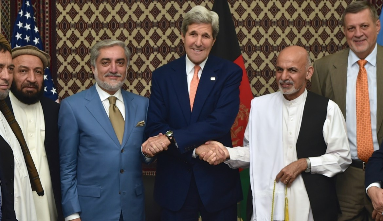 John Kerry Ashraf Ghani Abdullah Afghanistan