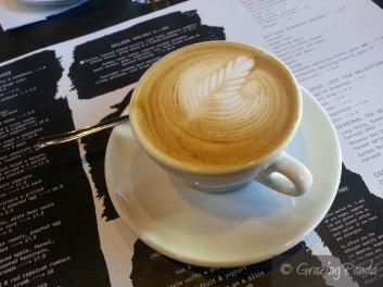 Latte at Code Black Coffee