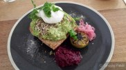 Avocado on Toast, Beetroot Relish, Burnt Lime, Pickled Red Onion, Corriander, Mixed Seeds, Sumac Salts
