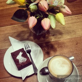 Chocolate Brownie and Latte