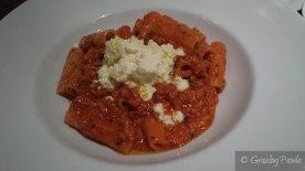Rigatoni with Aurora Style Pork Bolognese and Ricotta