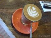 Latte at Scarvelli Cafe
