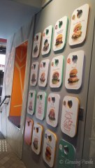 Vew of the Menu Wall