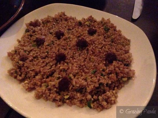 Quinoa with Pomegranate, Pistachio & Dates