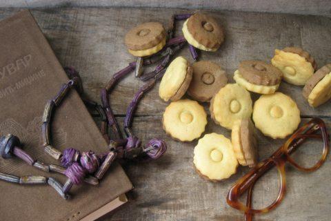 двобојни чајни кексићи
