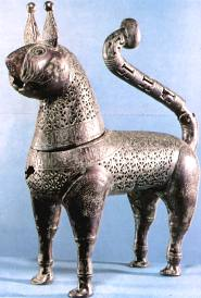 Bronze Incense Burner, 11th-12th C, history of the cat in Islam