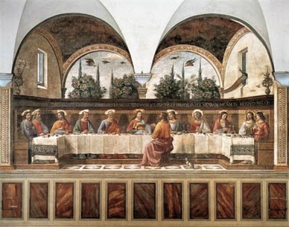 cat in Domenico Ghirlandaio Last Supper