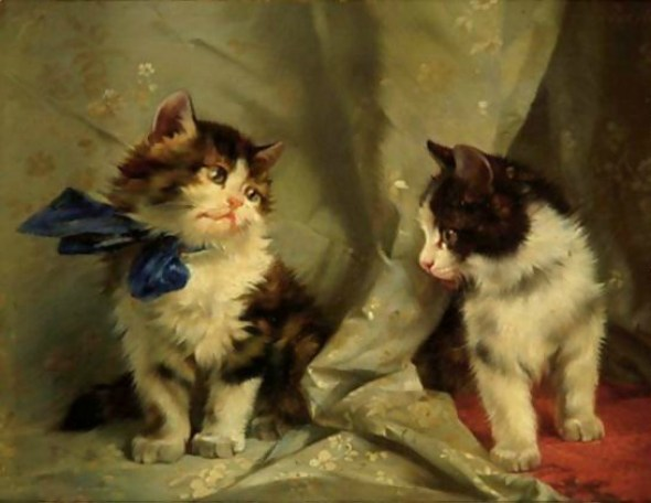 The Blue Bow Julius Adam II Private Collection