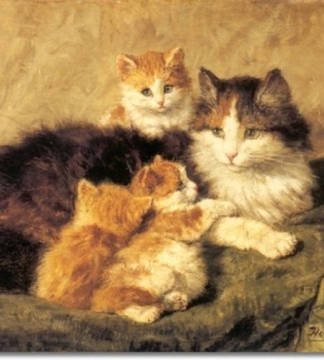 CATS IN ART - 19TH CENTURY - THE GREAT CAT