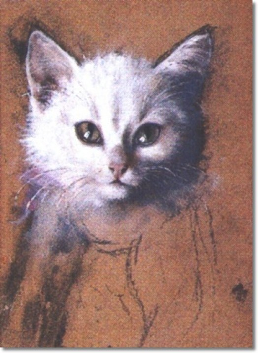 White Kitten Julius Adam Private Collection cats in 19th century art
