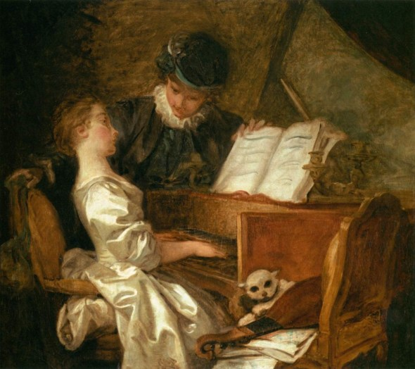 The Music Lesson Jean Honoré Fragonard Oil on Canvas 1769 Musee du Louvre