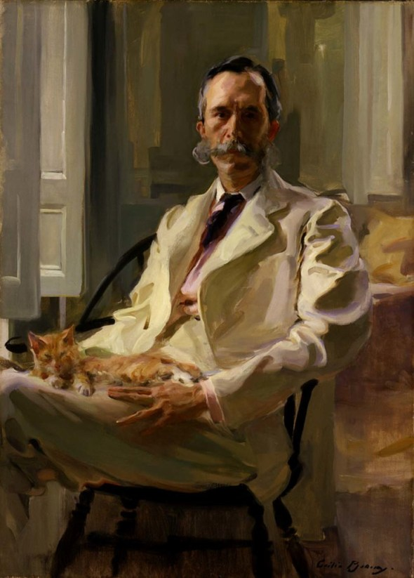 Man with a Cat Cecilia Beaux 1898 Smithsonian Institution