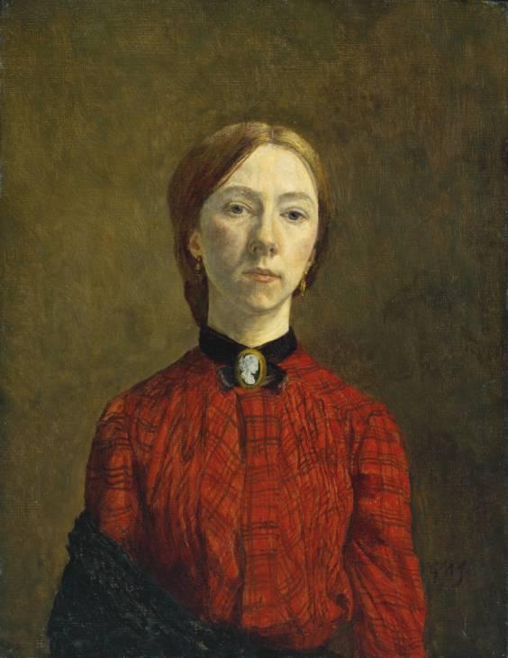 Gwen John Self-Portrait Oil on Canvas 1902 Tate Britain