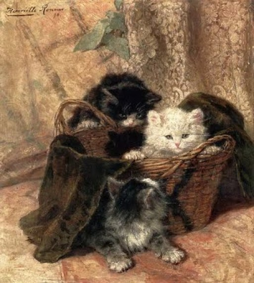Kittens in a Basket Henriette Ronner-Knip Private Collection