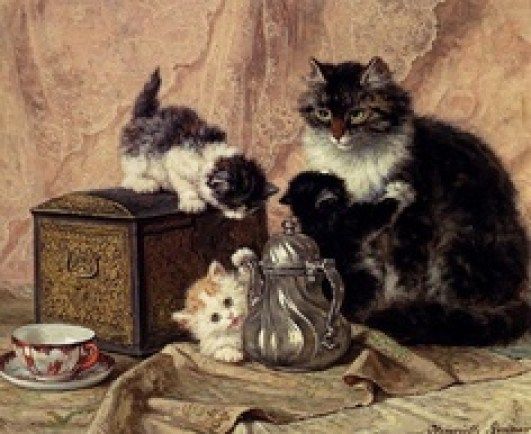 Tea Time Henriette Ronner-Knip Private Collection
