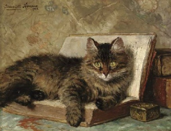 The Wise Cat Henriette Ronner-Knip Oil on Panel 1904 Private Collection