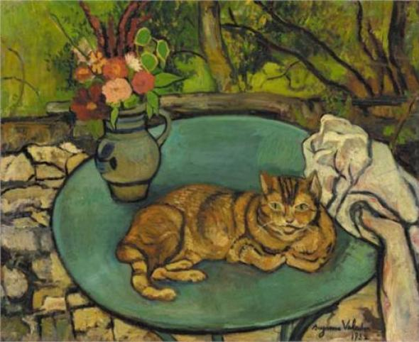 Raminou and Pitcher with Carnations Suzanne Valadon 1932