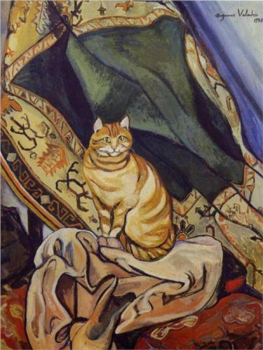 Raminou Sitting on a Cloth Suzanne Valadon 1920