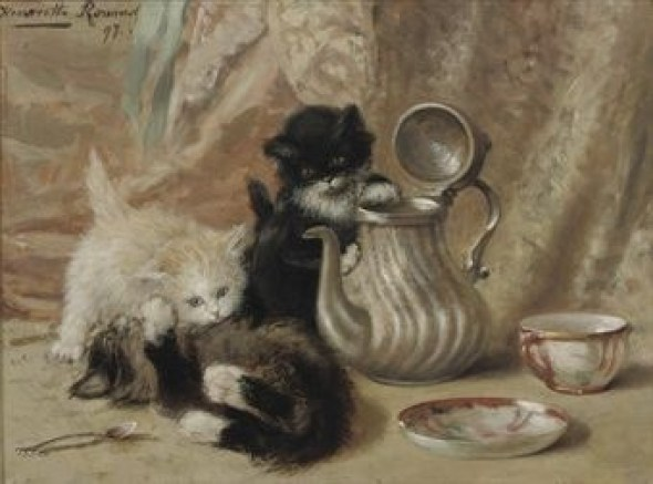 Henriette Ronner-Knip Oil on paper laid on panel 1897 Private Collection