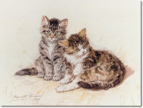 Beatitude Henriette Ronner-Knip 1899 Private Collection