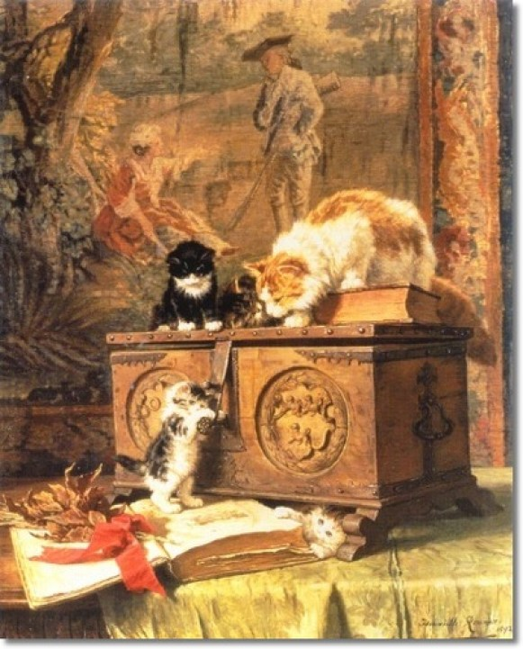 Treasures with Kittens Henriette Ronner-Knip Private Collection