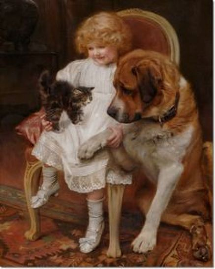 Kiss and Be Friends Arthur John Elsley Private Collection