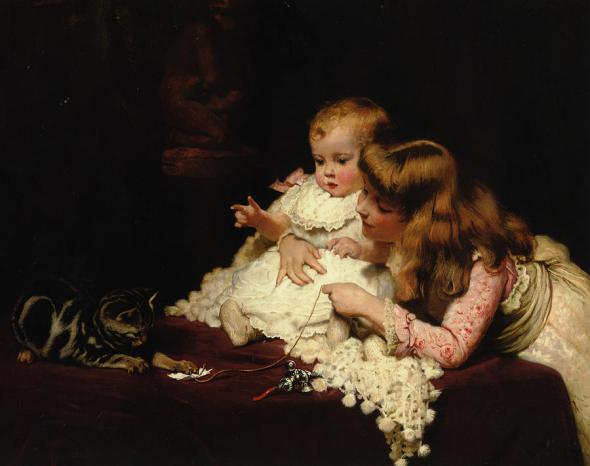 Playmates Arthur John Elsley Private Collection cats and kittens