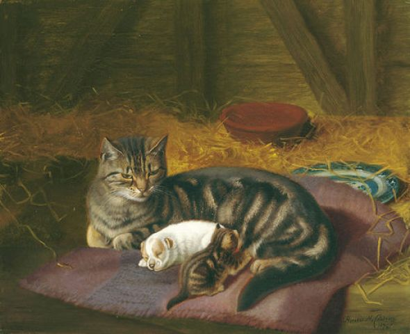 The Guest Horatio Henry Couldrey Private Collection kittens in art