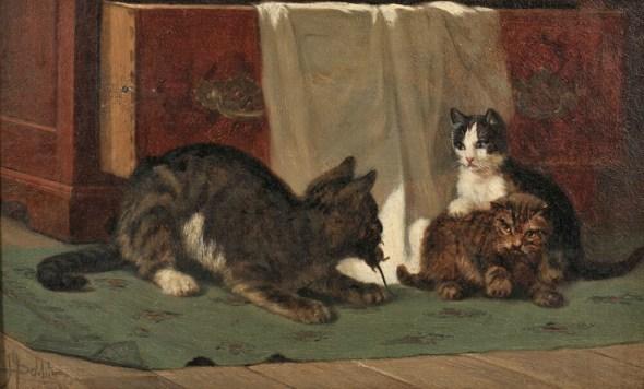 Mother Always Provides John Henry Dolphe cats in art