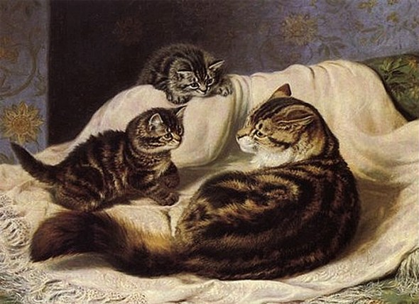 Mother and Kittens Horatio Henry Couldery Private Collection