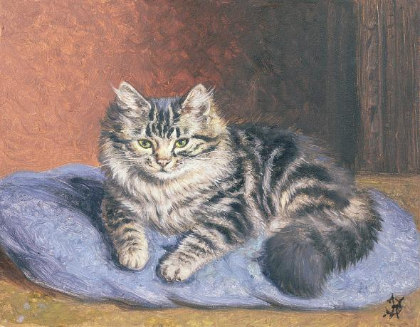 The Blue Cushion Horatio Henry Couldery Private Collection