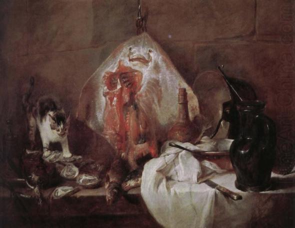 The Ray Jean Simeon Chardin 1728 The Louvre cats in art