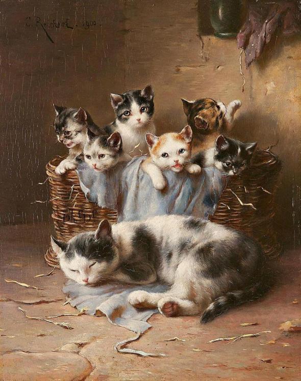 kittens in art
