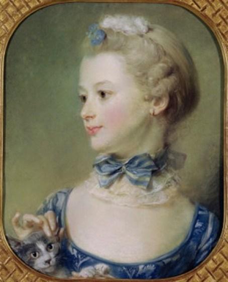 Young Girl with a Cat 1747 Jean Baptiste Perronneau National Gallery, London, Perronneau, Crespi, Desportes