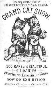 Grand cat show 1883, cats in history