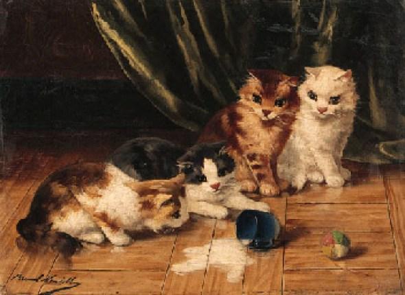 Spilt Milk kittens in art