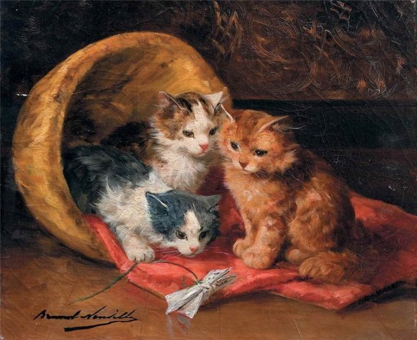 A New Toy kittens in art