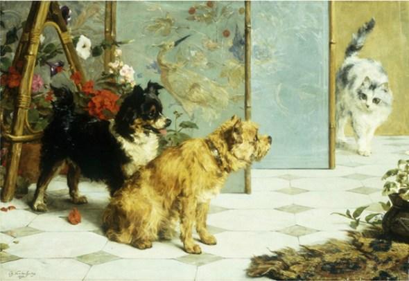 Playful Friends, Charles Van den Eycken Private Collection
