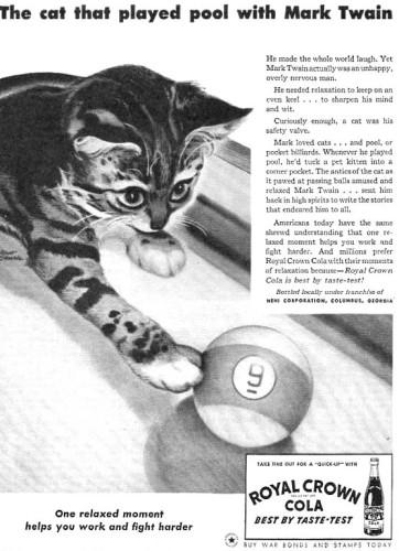 Mark Twains cats kitten in magazine article