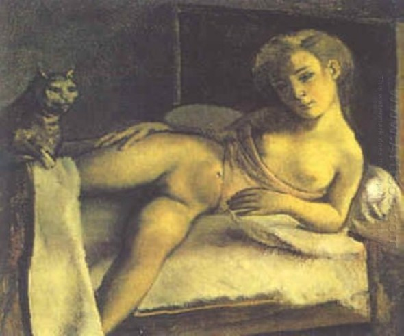 Girl on a Bed Balthus Cats in 20th century art